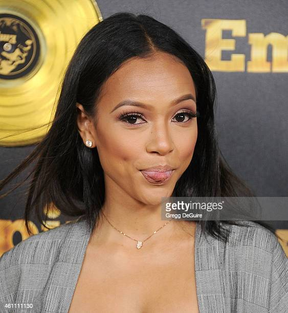 Karrueche Tran arrives at the red carpet premiere of 'Empire' at ArcLight Cinemas Cinerama Dome on January 6 2015 in Hollywood California