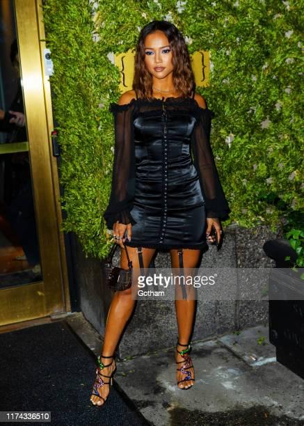Karrueche Tran at L'Avenue for Kim Kardashian's new shapewear line on September 12, 2019 in New York City.