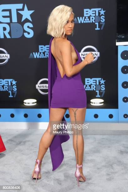 Karrueche Tran at the 2017 BET Awards at Microsoft Square on June 25 2017 in Los Angeles California