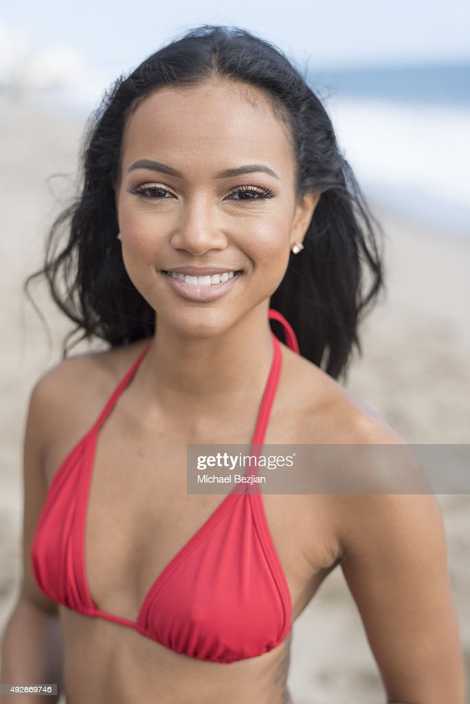 Karrueche Tran at 'The Bay The Series' New Intro Promotional Shoot on October 15, 2015 in Los Angeles, California.