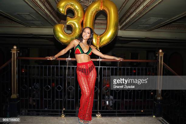 Karrueche Tran attends her birthday celebration at The Jane Hotel on May 17 2018 in New York City