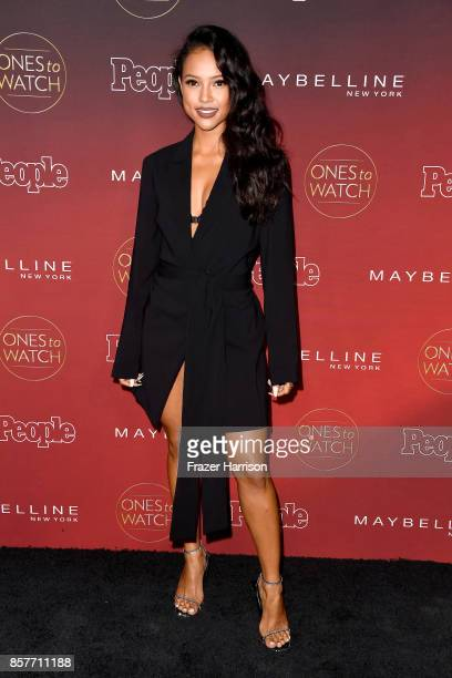 Karrueche Tran attends People's Ones To Watch at NeueHouse Hollywood on October 4 2017 in Los Angeles California
