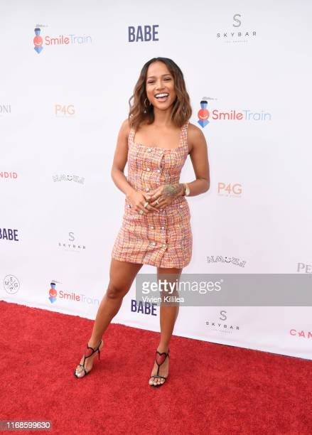 Karrueche Tran attends Smile Train World Smile Day Pool Party on September 15, 2019 in Los Angeles, California.