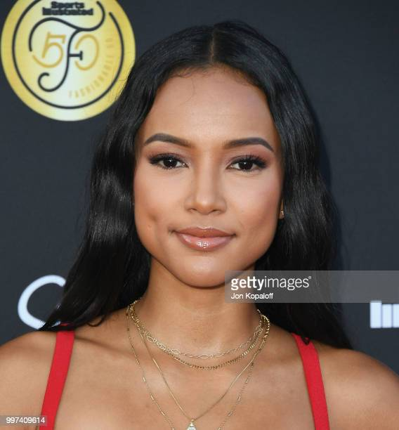 Karrueche Tran attends Sports Illustrated Fashionable 50 at HYDE Sunset Kitchen Cocktails on July 12 2018 in West Hollywood California