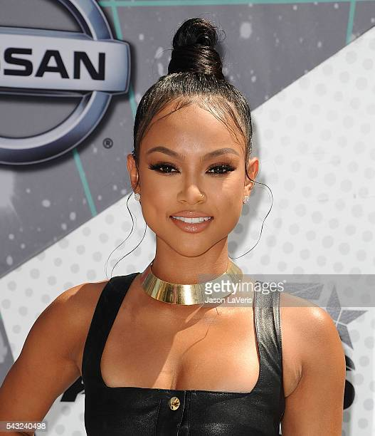 Karrueche Tran attends the 2016 BET Awards at Microsoft Theater on June 26 2016 in Los Angeles California