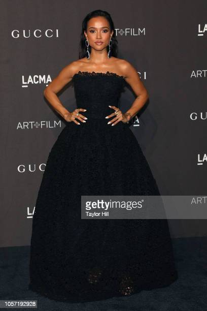 Karrueche Tran attends the 2018 LACMA ArtFilm Gala at LACMA on November 3 2018 in Los Angeles California