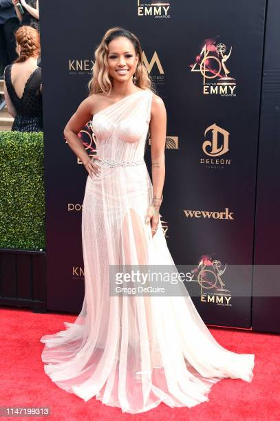 Karrueche Tran attends the 46th annual Daytime Emmy Awards at Pasadena Civic Center on May 05, 2019 in Pasadena, California.