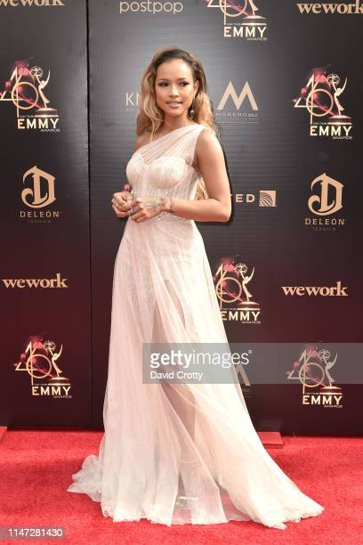 Karrueche Tran attends the 46th annual Daytime Emmy Awards at Pasadena Civic Center on May 05 2019 in Pasadena California