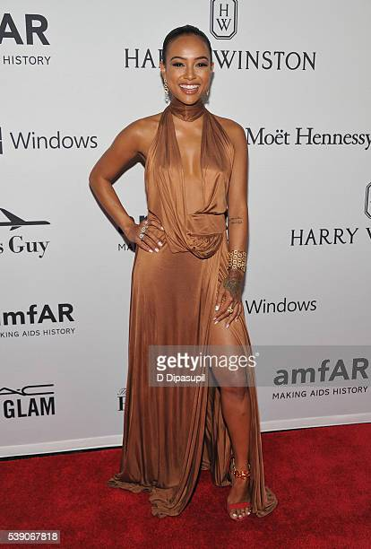 Karrueche Tran attends the 7th Annual amfAR Inspiration Gala at Skylight at Moynihan Station on June 9, 2016 in New York City.