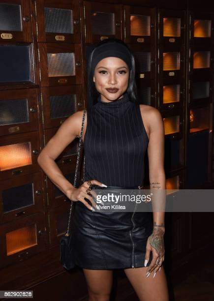 Karrueche Tran attends The ELLE Super Bowl Presented by AG on October 13 2017 in Los Angeles California