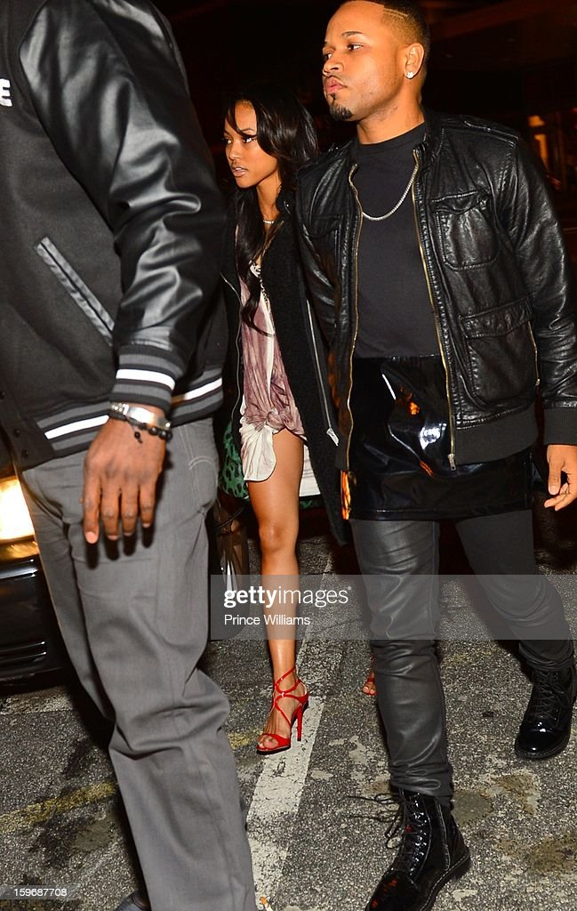 Karrueche Tran attends The Kill Collection launch at Vanquish Lounge on January 17, 2013 in Atlanta, Georgia.