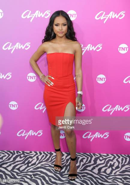 Karrueche Tran attends the Premiere Of TNT's 'Claws' at Harmony Gold Theatre on June 1 2017 in Los Angeles California