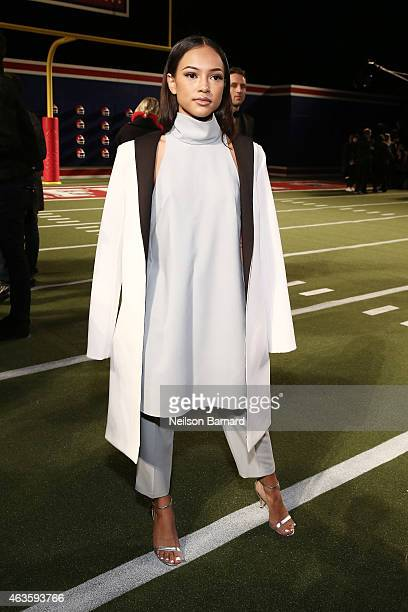 Karrueche Tran attends Tommy Hilfiger Presents Fall 2015 Women's Collection during MercedesBenz Fashion Week Fall 2015 at Park Avenue Armory on...