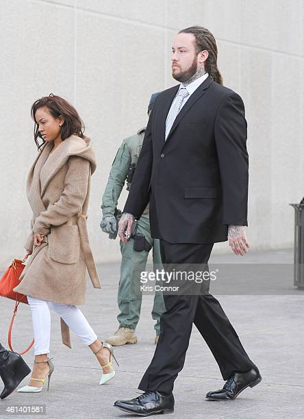 Karrueche Tran Chris Brown's girlfriend and Chris Hollosy Brown's bodyguard leave court where Hollosy and Brown's attorneys rejected a plea deal that...