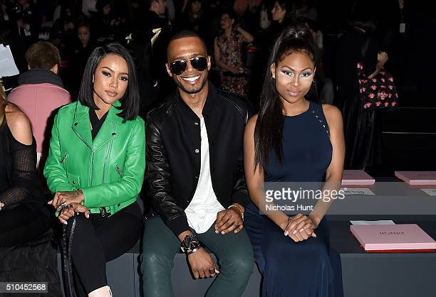 Karrueche Tran Eric West and Tashiana Washington attend the Vivienne Tam Fall 2016 fashion show during New York Fashion Week The Shows at The Arc...