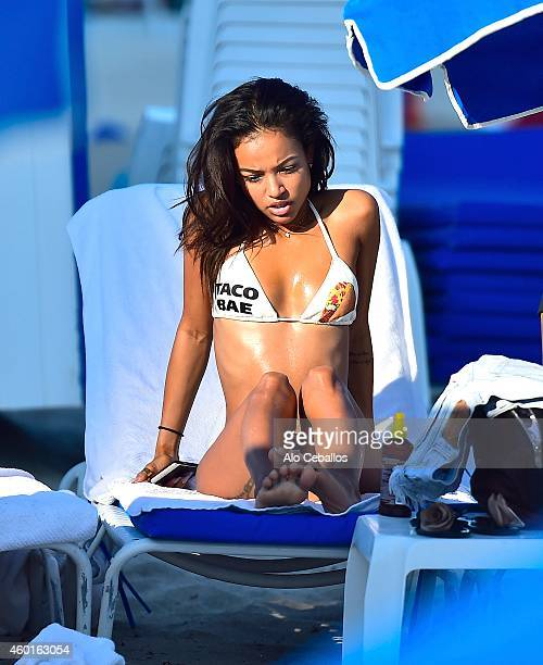Karrueche Tran is sighted on December 8 2014 in Miami Florida