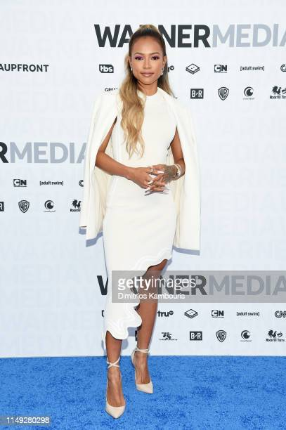 Karrueche Tran of TNT's Claws attends the WarnerMedia Upfront 2019 arrivals on the red carpet at The Theater at Madison Square Garden on May 15 2019...