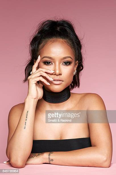 Karrueche Tran takes a portrait at Beautycon Festival Los Angeles on July 9 2016 in Los Angeles California @raskindphoto @smallzphoto