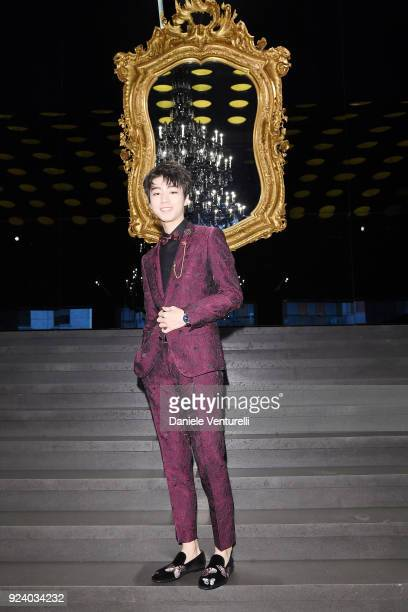 Karry Wang attends the Dolce Gabbana show during Milan Fashion Week Fall/Winter 2018/19 on February 25 2018 in Milan Italy