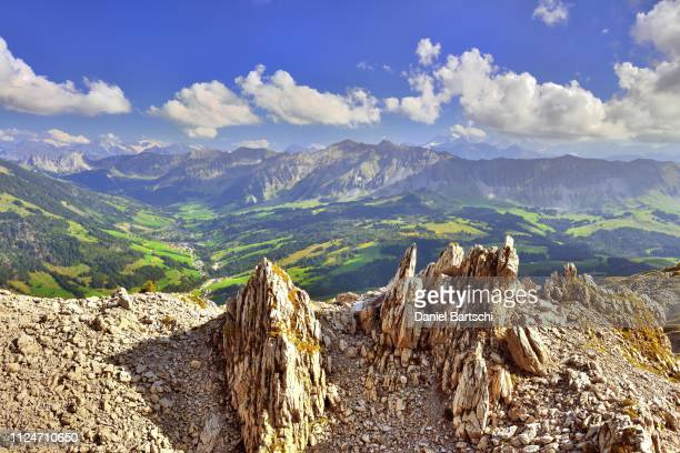 karst area schrattenfluh, unesco biosphere entlebuch, view of soerenberg with brienzer rothorn, mariental, canton lucerne, switzerland - unesco stock pictures, royalty-free photos & images