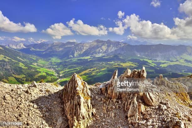 karst area schrattenfluh, unesco biosphere entlebuch, view of soerenberg with brienzer rothorn, mariental, canton lucerne, switzerland - unesco stock-fotos und bilder