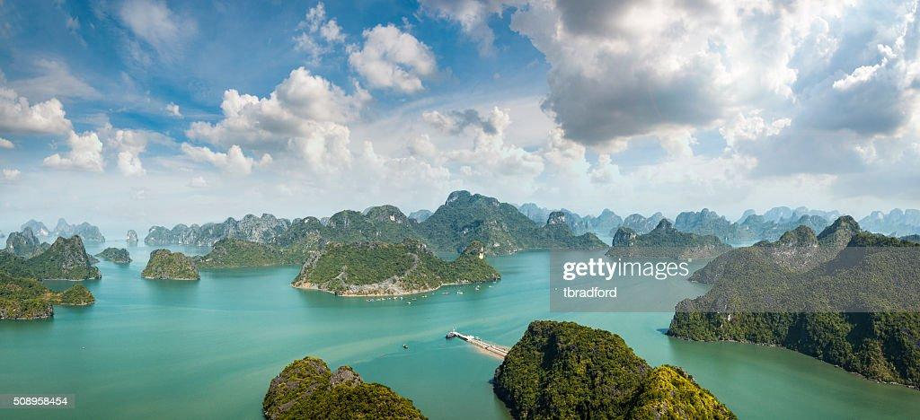Karst Island Landscape In Halong Bay, Vietnam : Stock Photo
