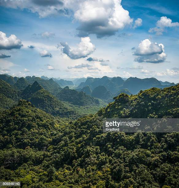 Karst Landscape On Cat Ba Island In Halong Bay, Vietnam