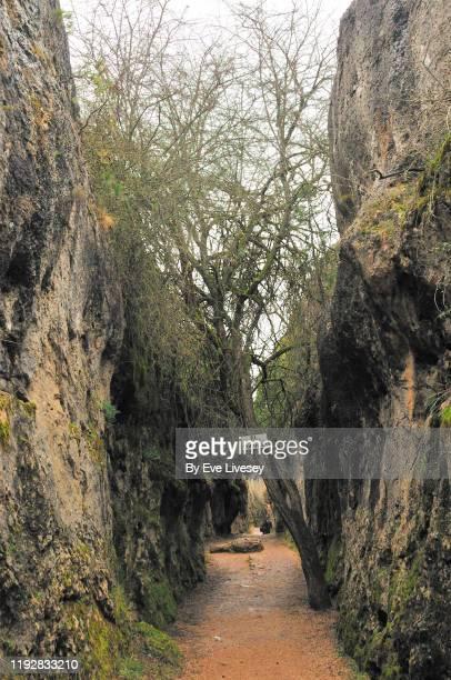 karst rock formation - cuenca provincia de cuenca fotografías e imágenes de stock