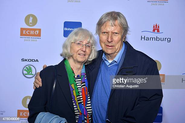 Karsten Jahnke and his wife Girlie attend the Echo Jazz 2015 at the dockyard of BlohmVoss on May 28 2015 in Hamburg Germany