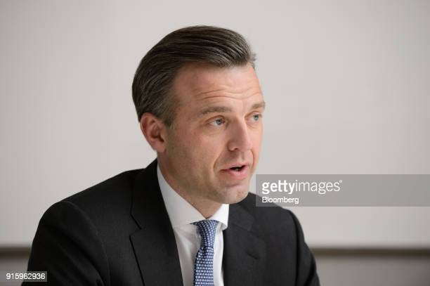 Karsten Kallevig chief executive officer of Norges Bank Investment Management speaks during an interview in Tokyo Japan on Wednesday Feb 7 2018 The...
