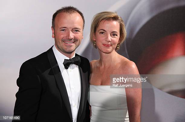 Karsten Schwanke and his wife Natascha attends the 'German Sustainability Award' at Maritim Hotel on November 26 2010 in Duesseldorf Germany