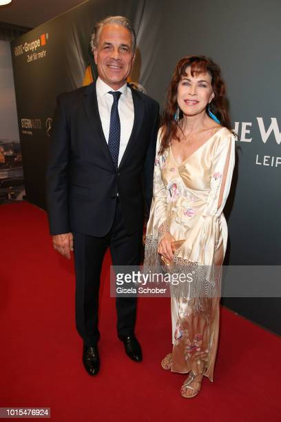 Karsten Speck and Anja Kruse during the 11th GRK Golf Charity Masters reception on August 11 2018 at The Westin Hotel in Leipzig Germany