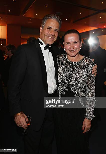 Karsten Speck and Cora Speck attend the 'Goldene Henne' 2012 award after show party on September 19 2012 in Berlin Germany