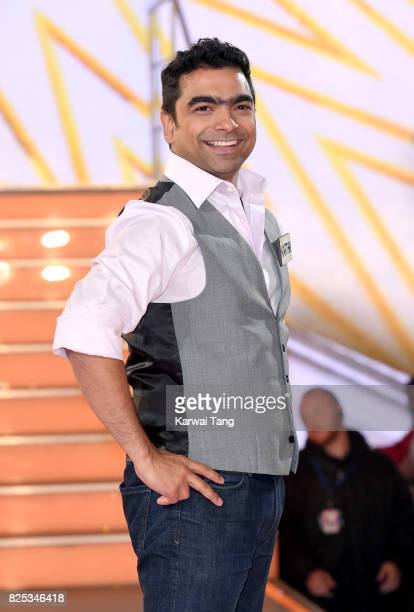 Karthik Nagesan enters the Big Brother House for the Celebrity Big Brother launch at Elstree Studios on August 1 2017 in Borehamwood England