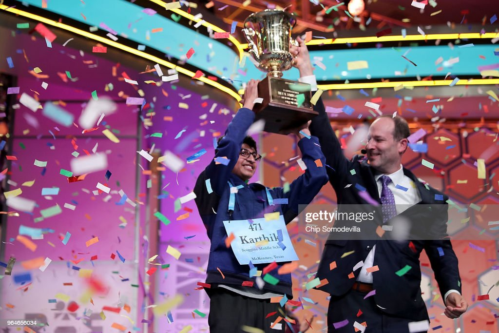 Student Spellers Compete In 2018 National Spelling Bee : News Photo
