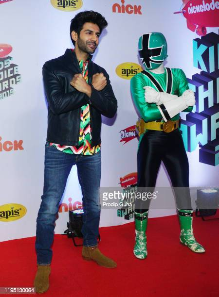 Kartik Aaryan attends the Nickelodeon The Kids Choice Awards 2019 on December 202019 in Mumbai India