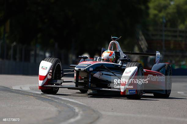 Karun Chandhok of India and Mahindra Racing Formula E Team during a nonqualifying practice as part of 2015 FIA Formula E Buenos ePrix at Puerto...