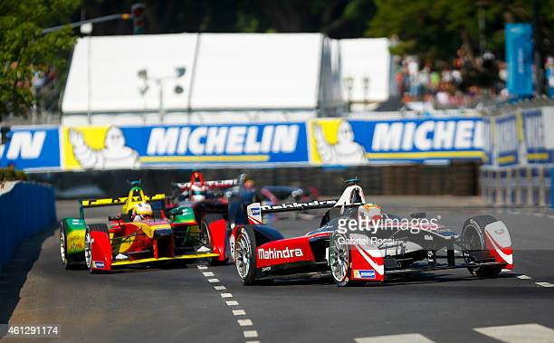 Karun Chandhok of India and Mahindra Racing Formula E Team during the 2015 FIA Formula E Buenos ePrix at Puerto Madero Street Race Track on January...