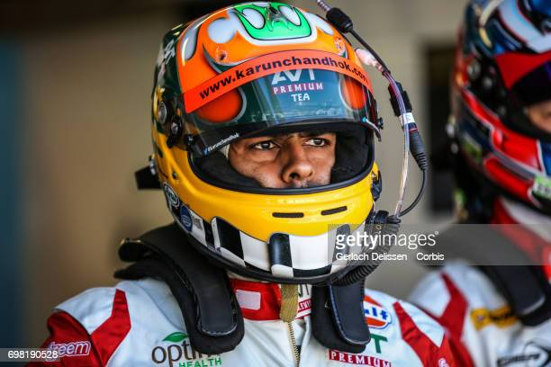 Karun Chandhok of the LMP2 Tockwith Motorsports Ligier JSP217Gibson waiting to get in the car during the Le Mans 24 Hours race on June 17 2017 in Le...