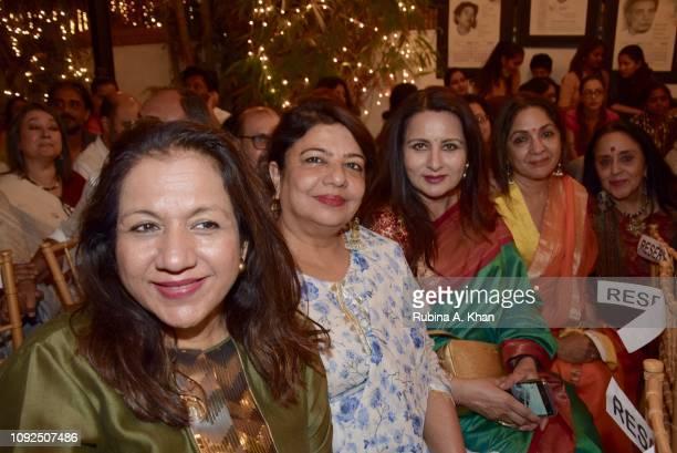 Karuna Dhawan Madhu Chopra Poonam Dhillon Neena Gupta and Ila Arun at Kaifi Ki Yaad Main an evening of live music and poetry at 25 Janki Kutir...