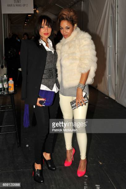 Karuna Tillman James and Alexis Pfeiffer attend ZAC POSEN Fall 2009 Collection at The Tent on February 19 2009 in New York