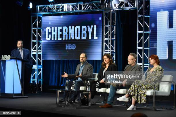 Kary Antholis President HBO Miniseries Cinemax ProgrammingÊexecutive producer/writer Craig Mazin actorsÊEmily Watson Jared Harris and Jessie...
