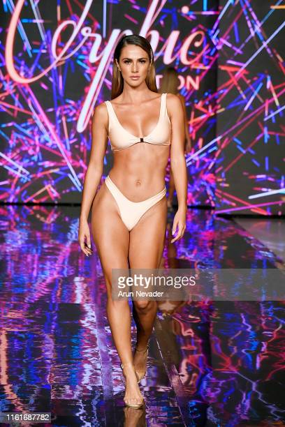 Kary Ramos, Miss Costa Rica walks the runway for ORPHIC LONDON At Miami Swim Week Powered By Art Hearts Fashion Swim/Resort 2019/20 at Faena Forum on...