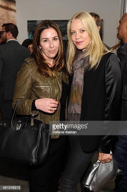 Karyn Lovegrove and Amanda George attend The Rema Hort Mann Foundation LA Artist Initiative Benefit Auction on November 21 2013 in Los Angeles...