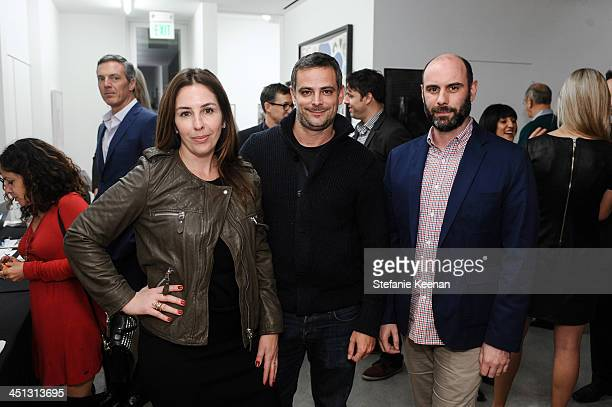 Karyn Lovegrove Ivan Fatovic and Tim Buggs attend The Rema Hort Mann Foundation LA Artist Initiative Benefit Auction on November 21 2013 in Los...