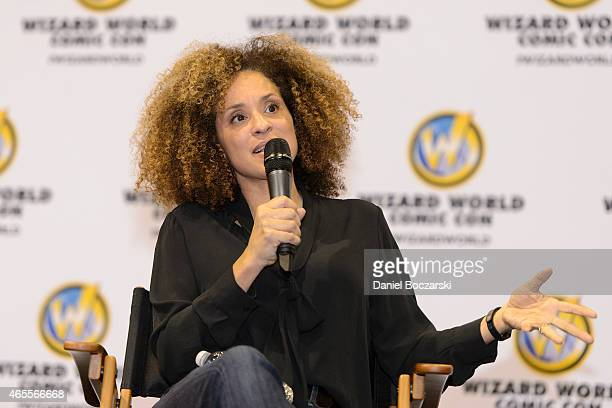 Karyn Parsons attends Wizard World Comic Con Fan Fest Chicago at Donald E Stephens Convention Center on March 7 2015 in Chicago Illinois