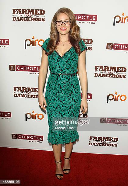 Karynn Moore arrives at the Chipotle world premiere of original comedy web series Farmed And Dangerous held at DGA Theater on February 11 2014 in Los...