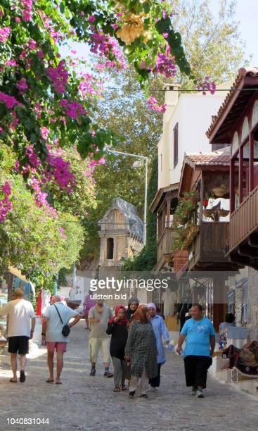 Kas Mittelmeer türkische Riviera Türkei Provinz Antalya Ansicht Stadtansicht Tourismus Touristen Urlaub Urlauber Urlauberrückgang