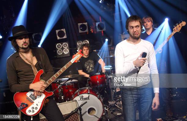 Kasabian appearing on No 1 Leicester SquareThe show will be broadcast on MTV at 1000pm on Monday