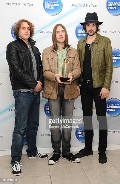 Kasabian attend the nominations for the 2009 Barclaycard Mercury Prize at The Hospital on July 21 2009 in London England